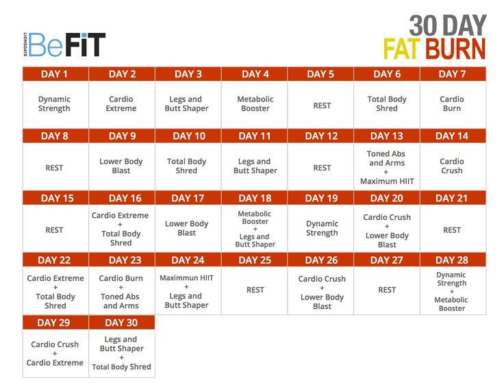 30 days fat burn diet